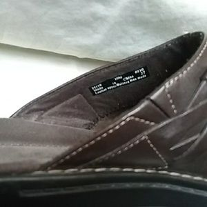 Clarks Shoes - Clark's Brown Clog/Slipons Leather Size 10